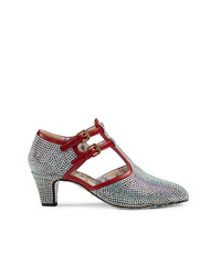 Gucci Crystal T Strap Pumps