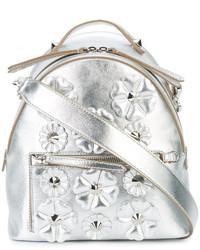 Fendi Floral Embroidered Shoulder Bag
