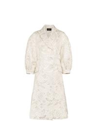 Simone Rocha Leaf Embroidered Cotton Coat