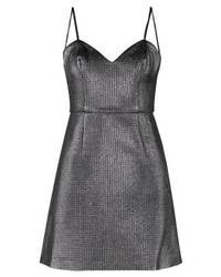 New Look Go Metlic Cocktail Dress Party Dress Gunmetal