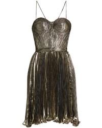 Maria Lucia Hohan Norina Silk Blend Lam Pleated Dress