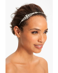 Nina Mariel Swarovski Crystal Headband Antique Silver