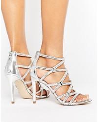 36366e3b268 Aldo Liah Metallic Cage Heeled Sandals