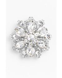 Treasure floral crystal brooch medium 12043