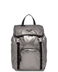 Prada Laminated Logo Backpack