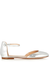 Gianvito Rossi Ankle Strap Leather Flats