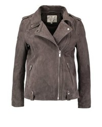 Sfjordyn leather jacket gunmetal medium 3993107