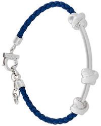 Salvatore Ferragamo Woven Leather Knot Bracelet