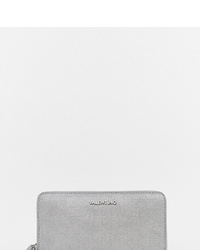 Valentino by Mario Valentino Zip Around Purse In Silver