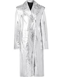 Calvin Klein 205W39nyc Convertible Metallic Leather Trench Coat