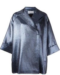 Gianluca Capannolo Metallic Oversized Short Coat