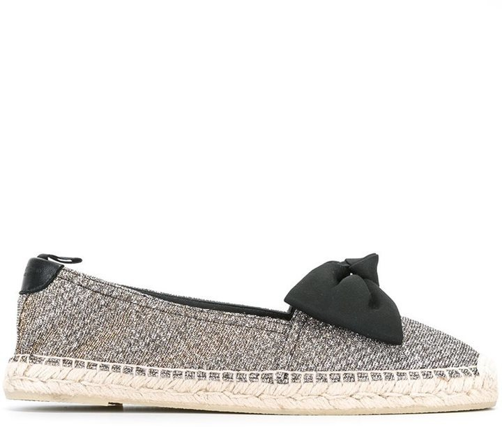 fa73dbb96 Saint Laurent Bow Detail Metallic Espadrilles, £457 | farfetch.com ...