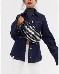 ASOS DESIGN Sling Bag In Stripe Sequin