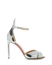 dd3b02897355 Women s Silver Leather Heeled Sandals from farfetch.com