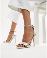New Look Square Toe 2 Part Heeled Sandal