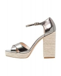 Andre Tapageuse Platform Sandals Silver