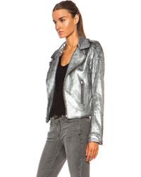 claro y distintivo gran descuento nuevo lanzamiento Combinar chaqueta cuero plateada – Revista de moda popular