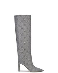 Jimmy Choo Checked Knee High Boots