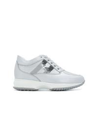 Hogan Mid Top Platform Logo Sneakers