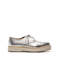 Church's Silver Taylee Leather Flat Brogues