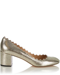 Chloé Chlo Lauren Scallop Edged Leather Pumps