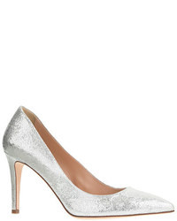 J.Crew Everly Crackled Metallic Leather Pumps