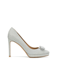 Salvatore Ferragamo Glitter Vara Bow Pumps