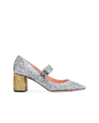 Rochas Two Tone Textured Pumps