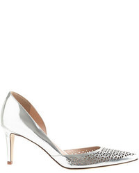 J.Crew Valentina Perforated Mirror Metallic Pumps