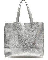 J.Crew Downing Tote In Metallic Leather