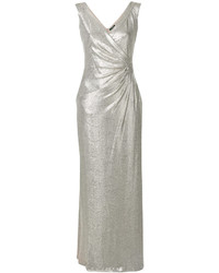 Ralph Lauren Metallic Fitted Maxi Dress