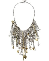 Vera Wang Multi Chain And Charms Necklace