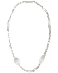 Maison Margiela Rhodium Plated Necklace