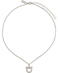 Salvatore Ferragamo Crystal Gancio Pendant Necklace