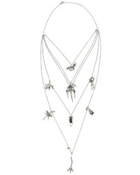 Valentino Garavani Tiered Chain Multi Charm Necklace