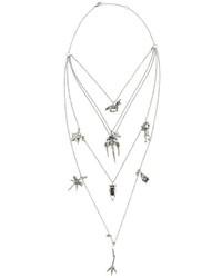 Valentino Garavani Tiered Chain Multi Charm Necklace