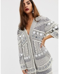 ASOS EDITION Mirror And Pearl Oversized Jacket