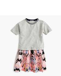 J.Crew Girls Two In One Dress In Marble Print