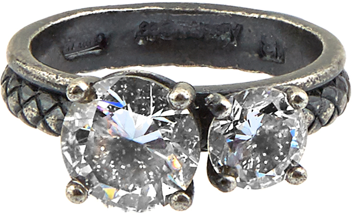Bottega Veneta Cubic Zirconia And Silver Ring
