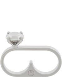 MM6 MAISON MARGIELA Stone Look Double Ring