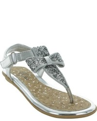 Jumping Jacks Girls Judy Glitter Flat Sandal