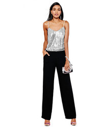 Silver Sequin Jumpsuit