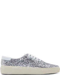 Silver Sequin Low Top Sneakers