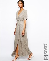 Asos Tall Sequin Kimono Maxi Dress