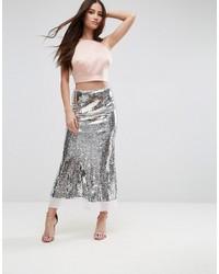 Asos Premium Sequin Midaxi Skirt