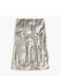 J.Crew Rose Gold Sequin Skirt