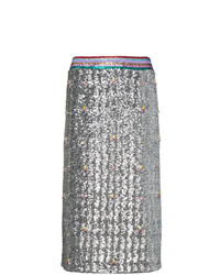 Mary Katrantzou Sigma Sequin Pencil Skirt