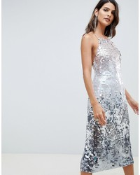 ASOS DESIGN Midi Pencil Dress In All Over Ombre Sequin