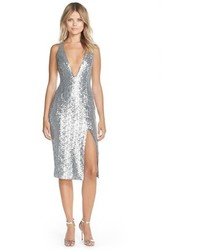 Jay Godfrey Murano Plunge Neck Sequin Sheath Dress