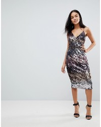 Club L Ombre Sequin Midi Dress